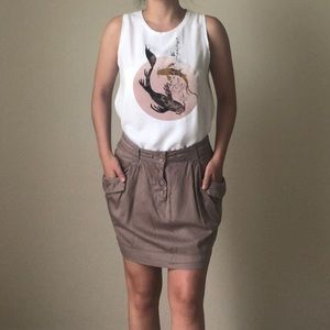 Dresses & Skirts - Taupe Skirt with Pockets